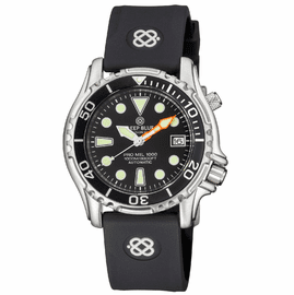 PRO MIL 1000 42MM AUTOMATIC SILICON STRAP BLACK DIAL