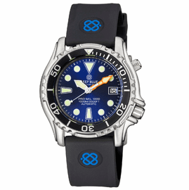 PRO MIL 1000 42MM AUTOMATIC SILICON STRAP BLUE DIAL