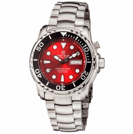 PRO SEA DIVER 1000M BRACELET  BLACK CERAMIC BEZEL RED DIAL