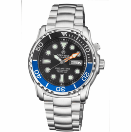 PRO SEA DIVER 1000M BRACELET BLACK/BLUE  BEZEL - BLACK DIAL 20/30/40/50