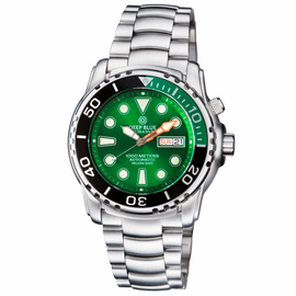 PRO SEA DIVER 1000M  BRACELET �  GREEN/ BLACK BEZEL � GREEN  DIAL