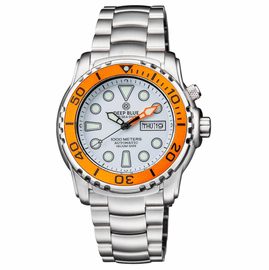 PRO SEA DIVER 1000M BRACELET ORANGE BEZEL � WHITE DIAL