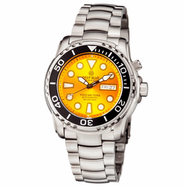 PRO SEA DIVER 1000M BRACELET BLACK CERAMIC BEZEL YELLOW DIAL