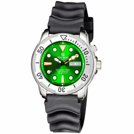 PRO TAC 1000M AUTOMATIC DIVER- SILVER BEZEL GREEN DIAL