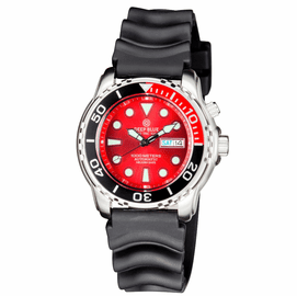 PRO TAC 1000M AUTOMATIC DIVER1/4 RED  BEZEL - RED DIAL