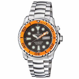 PRO TAC DIVER 1000M AUTOMATIC ORANGE BEZEL BLACK DIAL BRACELET