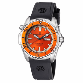ProAqua 1000 Quartz Orange Bezel Orange Dial