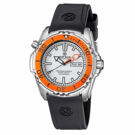 ProAqua 1000 Quartz Orange Bezel White Dial