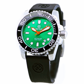 SEA RAM 500 GREEN DIAL BLACK/WHITE BEZEL