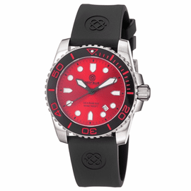 Sea Ram II Quartz - Red Dial -  BLACK/RED BEZEL