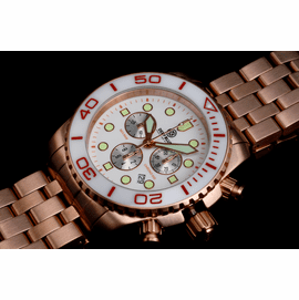 SEA RAM ROSE  GOLD CHRONOGRAPH CERAMIC BEZEL COLLECTION