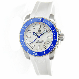 SEA RAMIC BLUE BEZEL WHITE  MOTHER OF PEARL DIAL