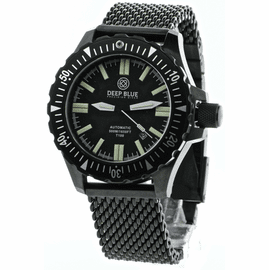 Sold Out - DAYNIGHT T100 OPS TRITIUM FLAT TUBES PVD CASE Stainless Mesh Link Bracelet