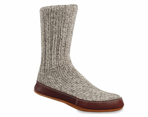Acorn Grey Ragg Wool - Slipper Socks