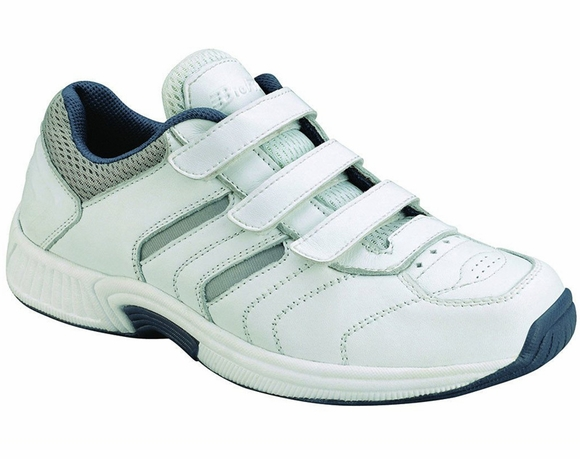 Orthofeet Men's Adjustable Strap Athletic Shoe, Biofit Ventura
