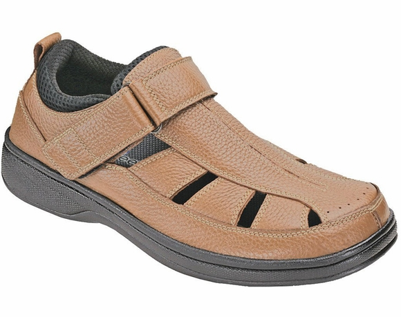 Orthofeet Men's Diabetic Sandal, Fisherman Melbourne