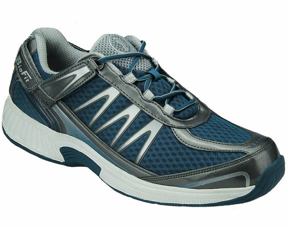 Orthofeet Sprint Men's Athletic Shoes (Tie-Less Lace)