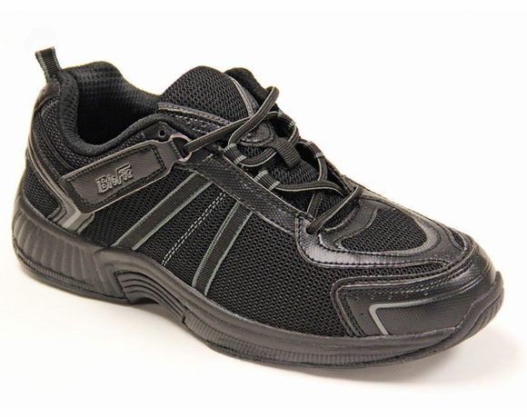 Orthofeet Women's Adjustable Strap and Lace Athletic Shoe, Tahoe