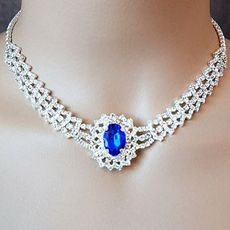 Cherish Royal Blue Rhinestone Jewelry Set