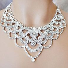 EXTRAVAGANZA RHINESTONE NECKLACE SET - SOLD  OUT