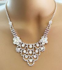 FOCUS RHINESTONE NECKLACE SET
