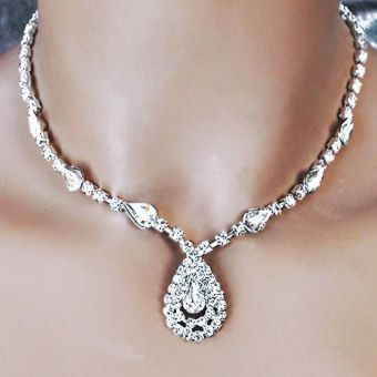 IT'S DELOVELY CLEAR RHINESTONE JEWELRY SET