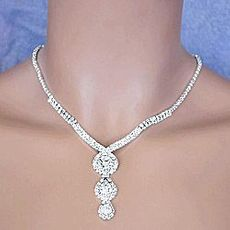 TRIPLE DECKER RHINESTONE JEWELRY SET