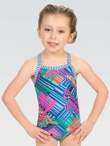 Little Dolfin Girls Color Clash Toddler One Piece Swimsuit 2021