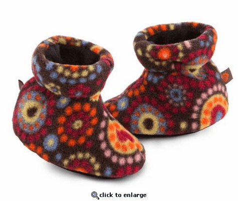 ACORN Toddler Easy Bootie Slipper- Chocolate Dots