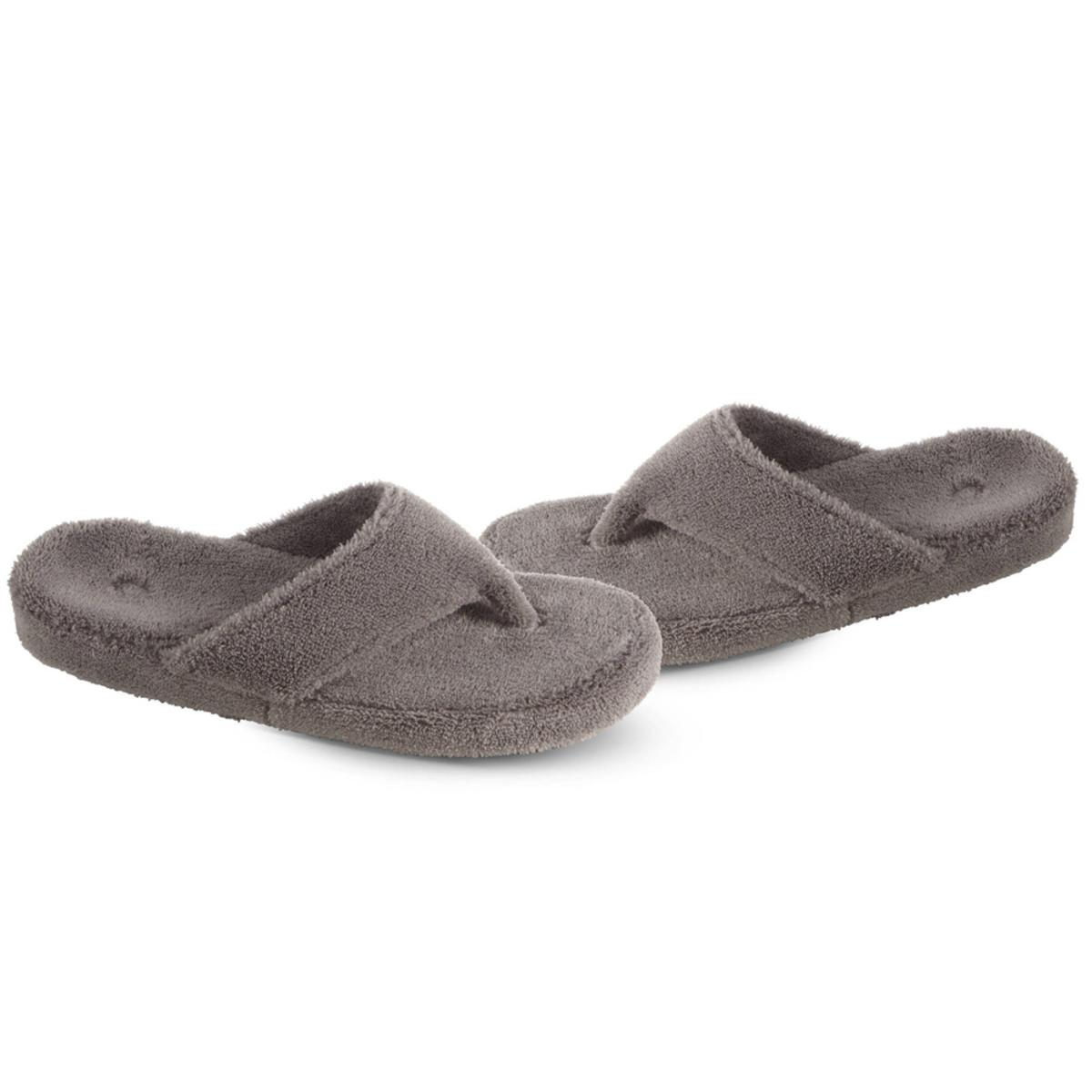 2cca9cb2b953 ACORN Women s Spa Thong Slippers - Grey - The Warming Store