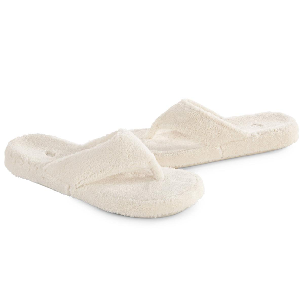 6e825d5319d1 ACORN Women s Spa Thong Slippers - Natural - The Warming Store