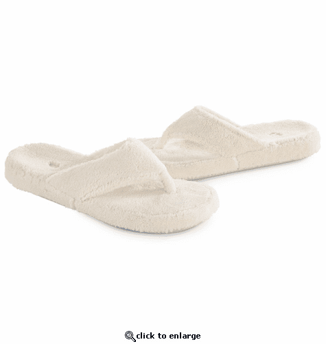 ACORN Women's Spa Thong Slippers - Natural
