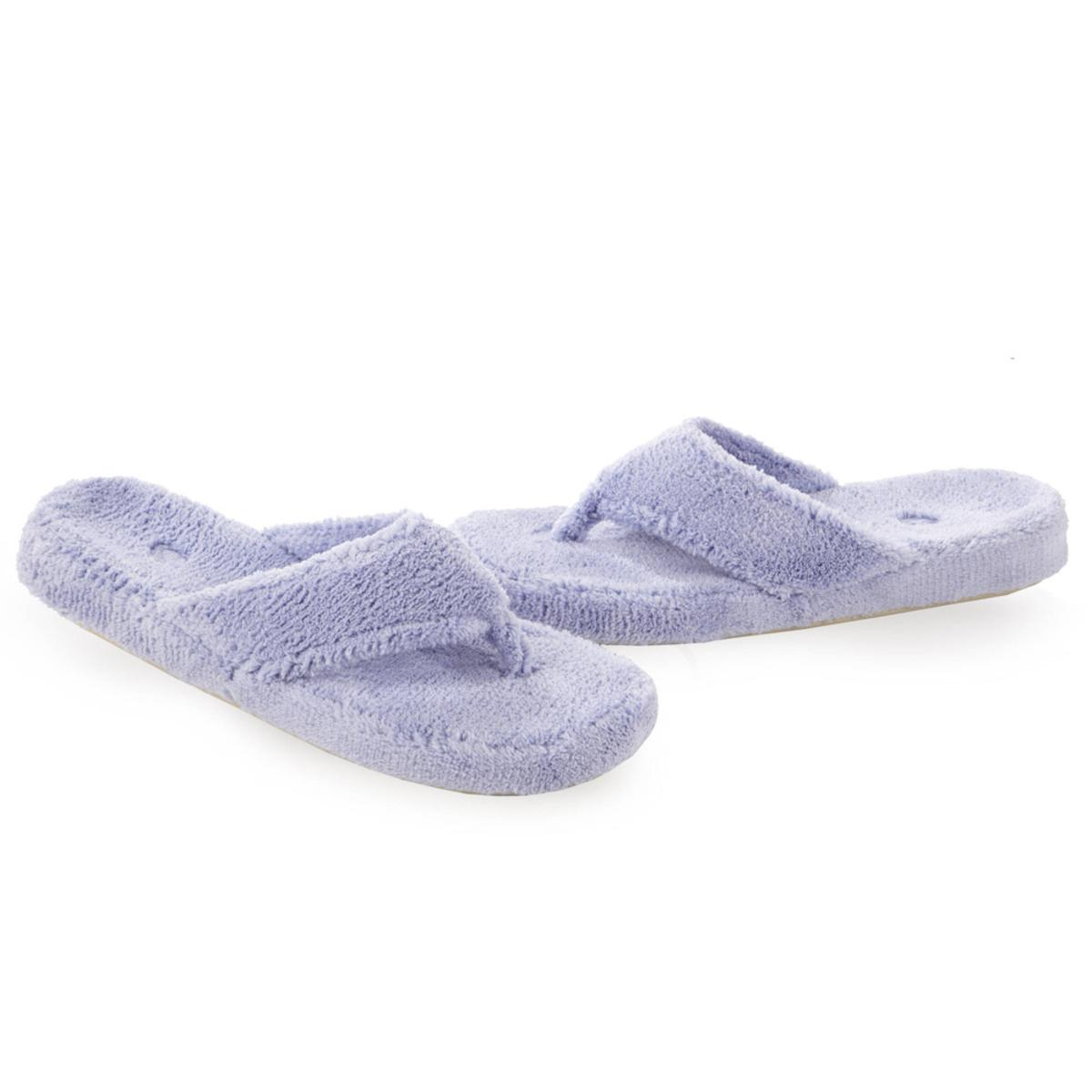 f0dec382dcba ACORN Women s Spa Thong Slippers - Periwinkle - The Warming Store