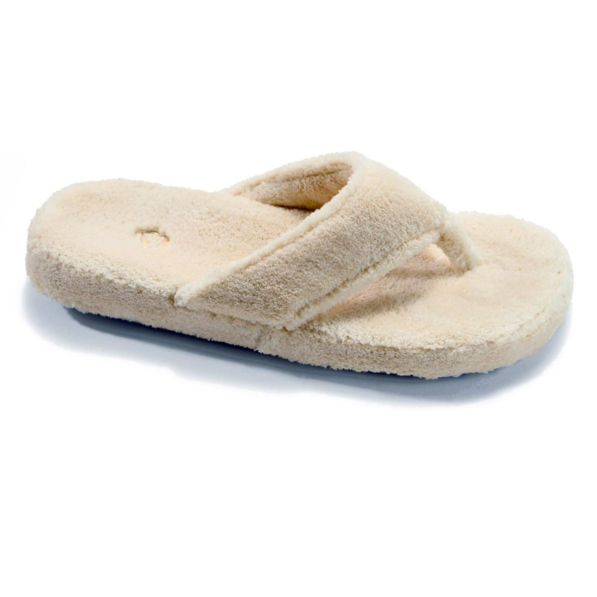737b673faa34 ACORN Women s Spa Thong Slippers - Taupe - The Warming Store