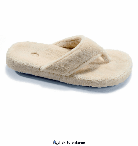 c2f1065acd48 ACORN Women s Spa Thong Slippers - Taupe - The Warming Store