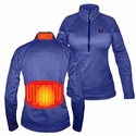 ActionHeat 5V Battery Heated 1/2 Zip Pullover Shirt - Women's
