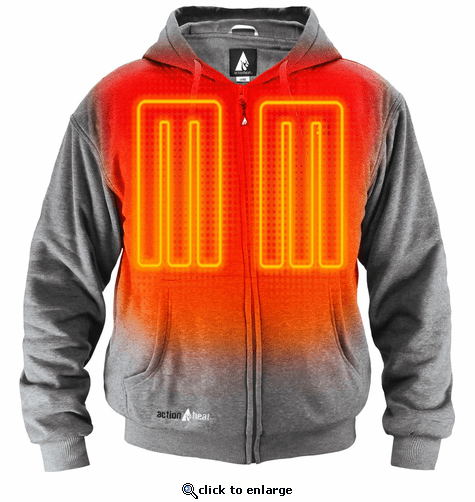 ActionHeat 5V Battery Heated Hoodie Sweatshirt