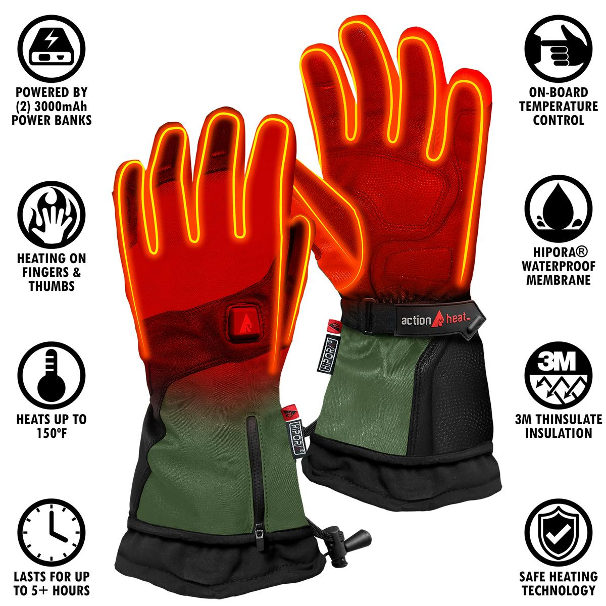 ActionHeat 5V Heated Glove Liners Men/'s L//XL--FREE SHIPPING