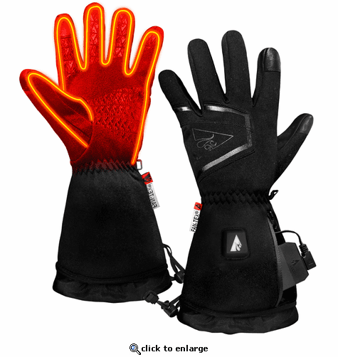 ActionHeat 5V Plush-Softshell Heated Gloves for Women
