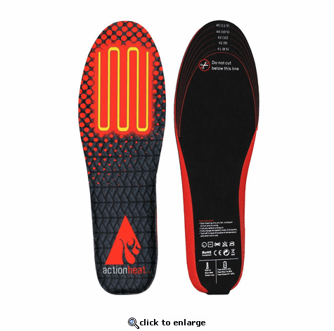 ActionHeat Rechargeable Battery Heated Insoles