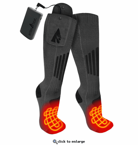 ActionHeat Wool 3.7V Rechargeable Heated Socks 2.0 with Remote