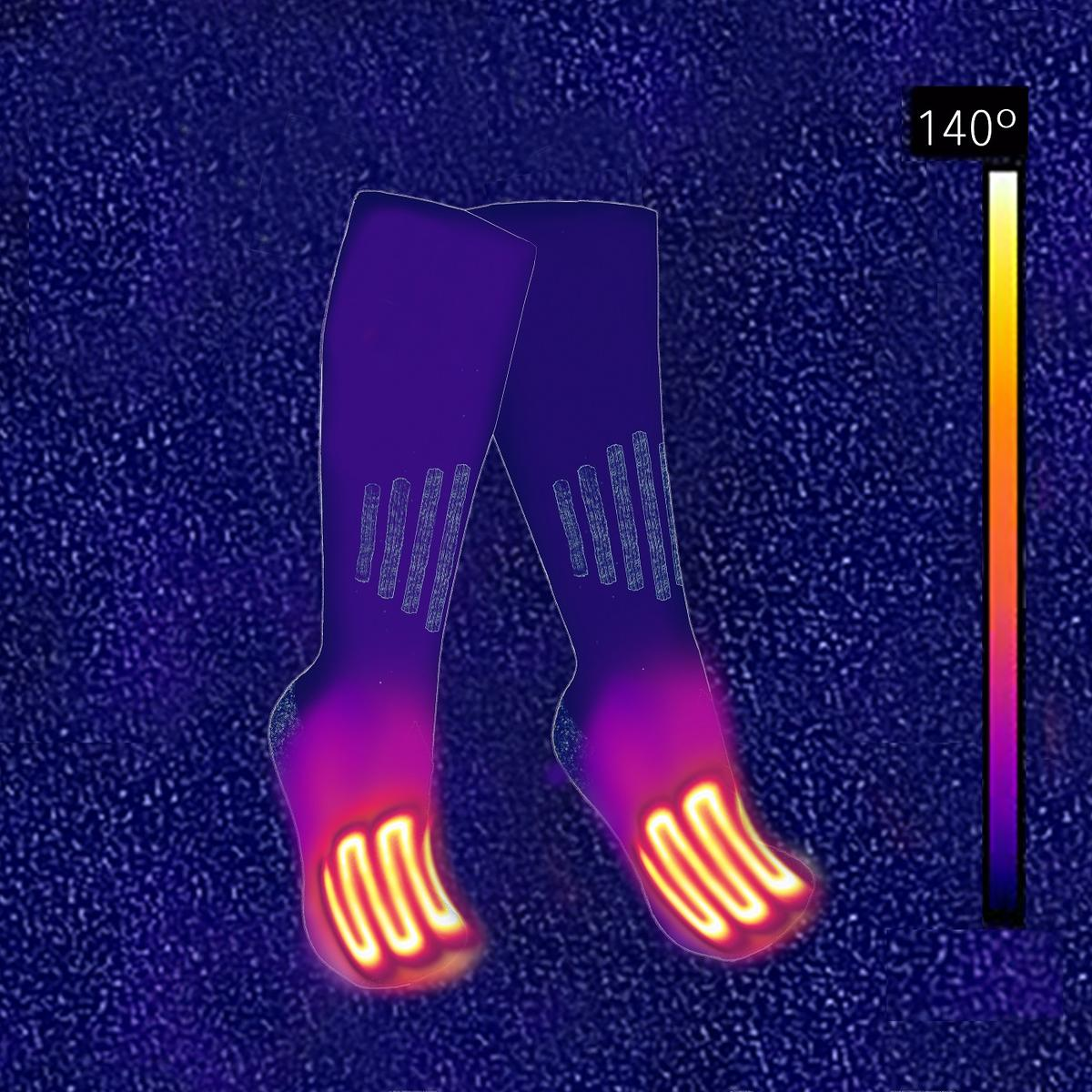 ActionHeat 3 7V Rechargeable Battery Heated Socks - Cotton