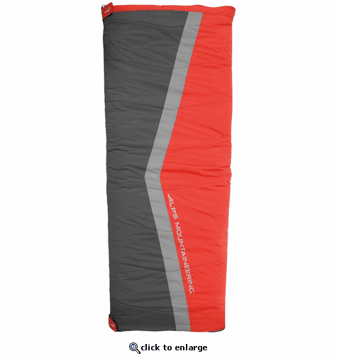 ALPS Mountaineering Cinch 20° Sleeping Bag - Red/Charcoal