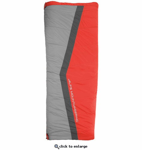ALPS Mountaineering Cinch 40° Sleeping Bag - Red/Gray