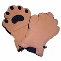 Bear Hands - Bear Paw Fleece Mittens for Adults
