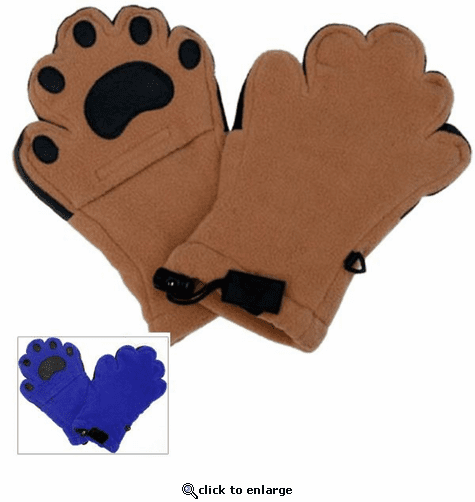 Bear Hands Bear Paw Fleece Mittens for Kids