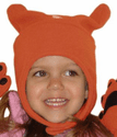 Bear Hands Chinstrap Fleece Hat