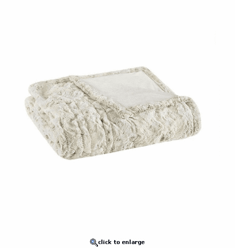 Beautyrest 100% Polyester Faux Fur Heated Throw - 50