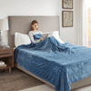 Beautyrest 100% Polyester Knitted Solid Microlight to Solid Microlight Heated Blanket - Full