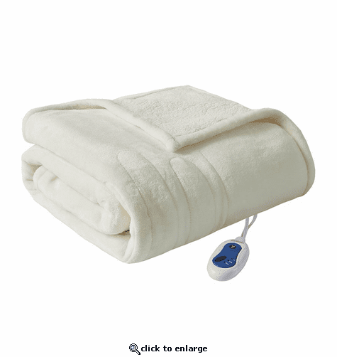 Beautyrest Heated Microlight to Berber Throw - 60